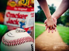 engagement pictures, engagement photos, baseball, basebal engag, engagements, ring pictures, photo idea, engag pictur, engag photo