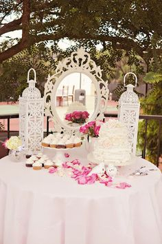 vintage inspired dessert buffet (image by Arina B Photography) #vintagewedding #weddingdessertbuffet