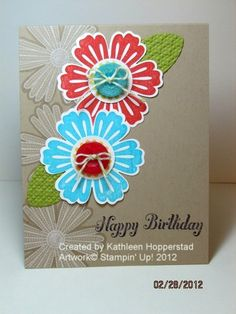 Stampin' Up!  Mixed Bunch Stamp and Blossom Punch.