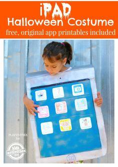 iPad Halloween Costume with free app printables