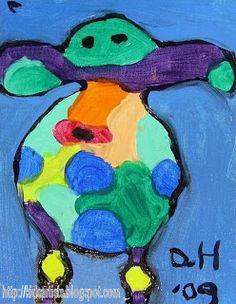 Kids Artists: Colourful cows, like Peter Diem
