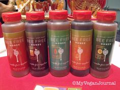 Vegan Honey!! SO good! It's made from apples! Lots of flavors too! From #MyVeganJournal's Top 10 Vegan Moments at Natural Products Expo West 2014!