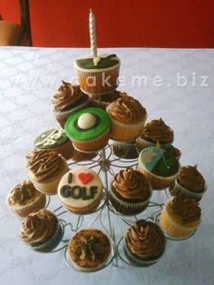 Golf Cupcake Cake @USHoleInOne