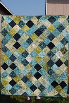 quilt in blues - love it