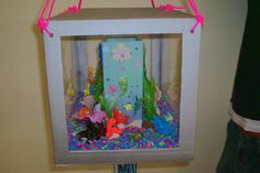 view of the Little Mermaid, it was made to simulate a fish tank ...