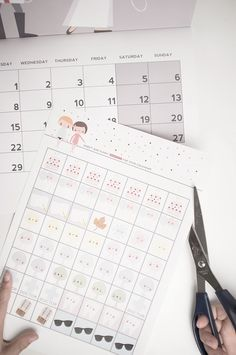 FREE printable cute DIY calendar stickers ♥︎