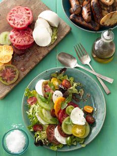Heirloom Tomato Caprese Salad #myplate #salad #veggies