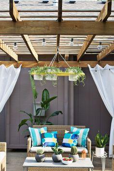 DIY: outdoor plant chandelier
