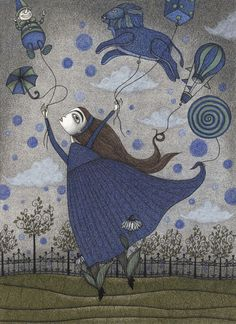 "Violetta Dreaming  by Judith Clay  Art Print / MINI (8"" x 10"")    $18.00"