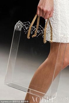 Simone Rocha 2013 clear doily tote bag