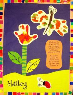craft, mothers day, butterflies, hands, handprint art, hand prints, pink lemonade, art projects, art rooms