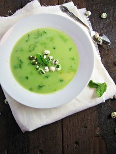 Pea & Wasabi Soup by katieatthekitchen #Soup #Pea_and_Wasabi_Soup #katieatthekitchen