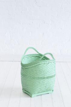 Color Verde Menta - Mint Green!!! Bamboo Large Basket