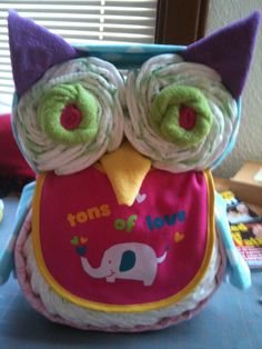 Owl. Diaper cake