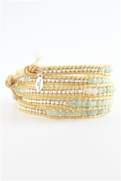 Sea Breeze Jade Wrap Bracelet - www.talulahlee.com