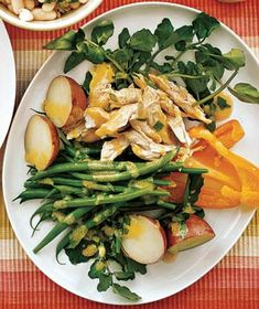 Chicken Salad With Green Beans and Potatoes recipe from realsimple.com #myplate #protein #vegetables