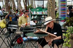 2010: Inspired by the park's 1930s lending library, the Bryant Park Reading Room opened in 2003, with free books, newspapers and magazines, and over 80 free literary events.