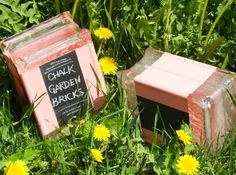 How to Make Chalkboard Garden Bricks #FrogTape #ad