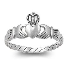 Sterling Silver 9mm Claddagh Heart Ri... $13.95 #bestseller