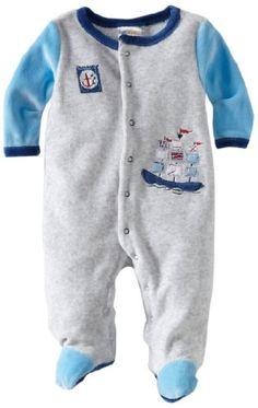 ABSORBA Baby-Boys Newborn Velour Footie « Clothing Impulse