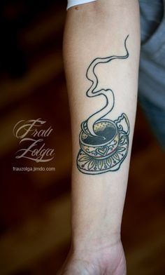 cup of coffee tattoo