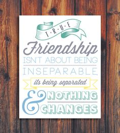 True Friendship Quote Illustration by ConteurCo on Etsy, $12.00