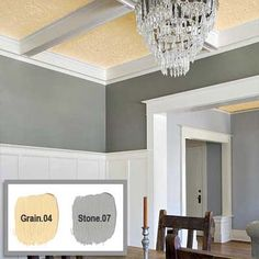 paint colors of gray and yellow that look good together