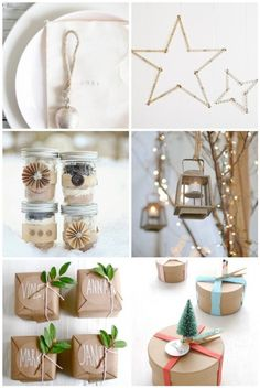 rustic table decorations christmas - Google Search