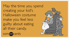 May the time you spend creating your kid's Halloween costume make you feel less guilty about eating all their candy.