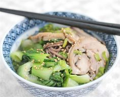 Turkey Soba Noodle Soup - a favorite way to use up #Thanksgiving #Leftovers