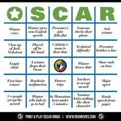 Oscar Bingo! Card no. 4