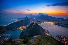 Rio de Janiero. Stood on this very mountain top. You can also see the Cristo Redentor statue.