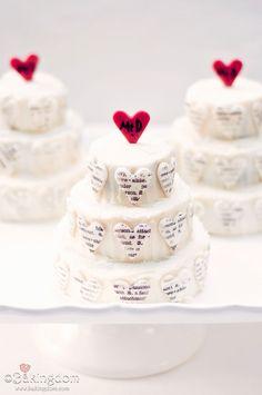 Cute anniversary cake idea