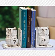 Iron Owl Bookends