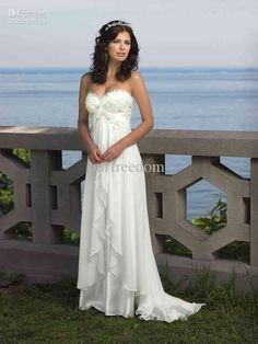 $117 Beach wedding dress- so simple, little shorter with cowgirl boots- super cute too!