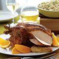 Roast Chicken with Maple-Soy Glaze
