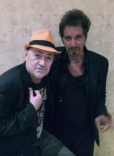 """Former """"Scarface"""" Stars Al Pacino and Angel Salazar Meet at The Mirage in Las Vegas on Aug 16, 2014"""