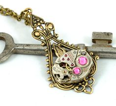 Steam Punk Necklace Steampunk Necklace by VictorianCuriosities, $35.00