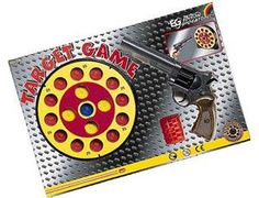 The Edison Target Game is a soft pellet gun set that is perfect for children and adults to play with. This gun fires soft 'gummy' pellets (never fire the gun at the face). This model includes an 8 shot pistol, pellets and various targets.    Please note this pistol is blue due to the new gun laws.