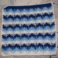 Sampler - Zigzag Pattern with Long Single Crochet