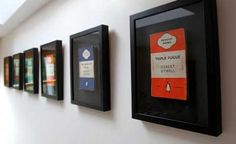 Penguin book covers framed individually (for the kitchen wall?)   http://www.dorsetecho.co.uk/resources/images/2482880.jpg?type=articleLandscape