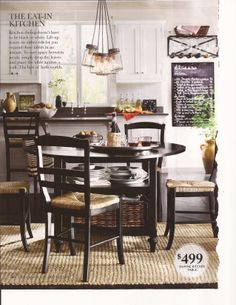 dining rooms, potterybarn, kitchen tables, potteri barn, kitchen chairs, barns, white cabinets, pottery barn, white kitchens