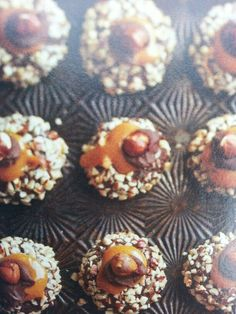 Nutty Chocolate #Caramel Thumbprints. Can it get any yummier? # ...