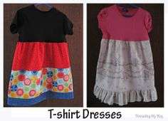 T-Shirt Dress, super easy way to create a dress or maybe romper