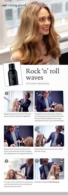 Learn how to get the Rock 'n' Roll Waves look courtesy of Living Proof #howto #hair #hairstyles #waves #livingproof #Sephora