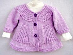 Handknit Baby Coat cardigan