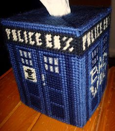 Tardis Tissue Box Cover