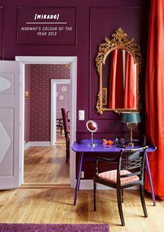 Purple Colour Ideas: Mikado Suite, Grand Hotel, Oslo