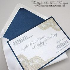 Vintage Antique Lace Wedding invites - so pretty