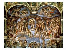Sistine Chapel, Italy.   The Last Judgement.